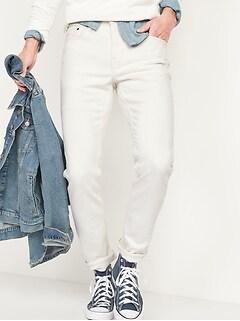 Slim Built-In Flex Ecru-Wash Jeans for Men