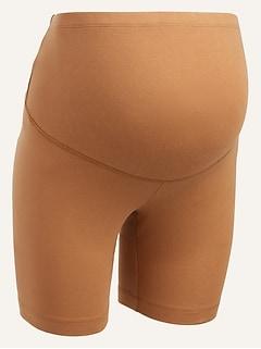 Maternity Full Panel Jersey Biker Shorts -- 7-inch inseam