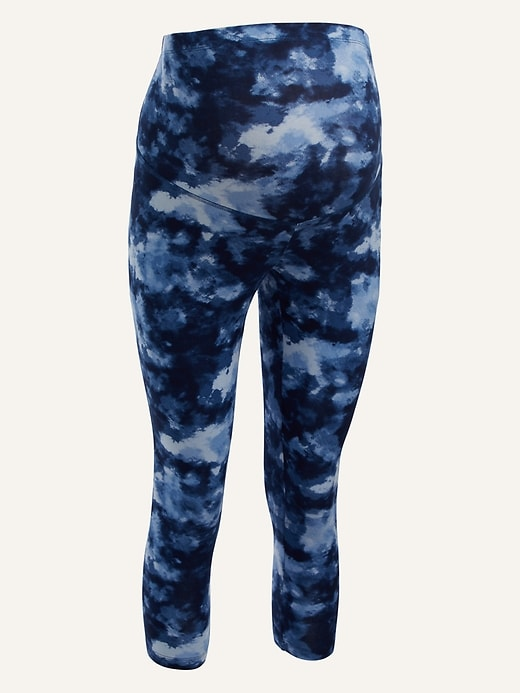 Maternity Full Panel Printed Crop Leggings