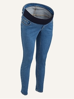 Maternity Front Low Panel Rockstar Super Skinny Jeans