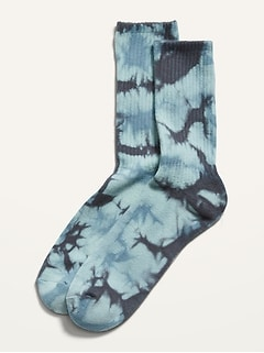Tie-Dyed Gender-Neutral Tube Socks for Adults