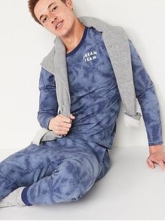 Matching Graphic Pajama Set for Men