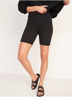 High-Waisted Long Biker Shorts for Women -- 9-inch inseam