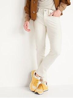 Skinny Built-In Flex Ecru-Wash Jeans for Men