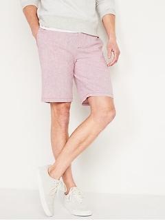 Slim Ultimate Micro-Stripe Linen-Blend Shorts for Men -- 10-inch inseam