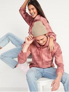 Vintage Tie-Dye Gender-Neutral Pullover Hoodie for Adults