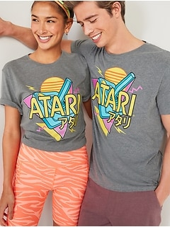 Atari® Japanese Logo Gender-Neutral Graphic Tee for Adults