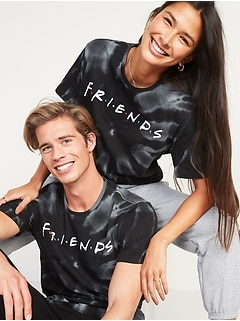 Friends™ Tie-Dyed Gender-Neutral Graphic Tee for Adults