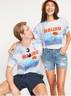 Vintage Tie-Dye Gender-Neutral Graphic Tee for Adults