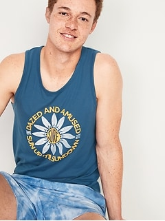 Graphic Soft-Washed Tank Top for Men
