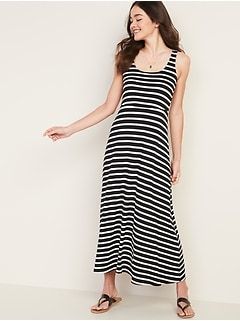Scoop-Neck Fit & Flare Maxi Dress for Women