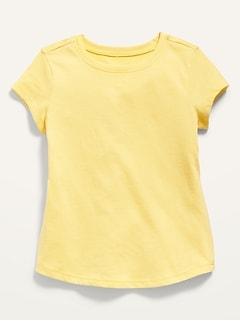 T-shirt uni à manches courtes pour Toute-petite