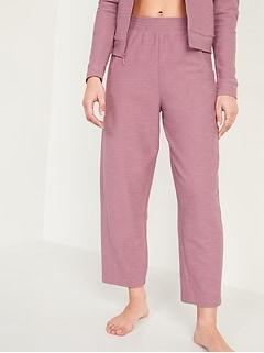 Extra High-Waisted Lightweight Textured Barrel-Leg Sweatpants for Women