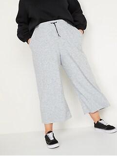 Pantalon Breathe ON trois quarts à jambe large et taille haute, taille forte