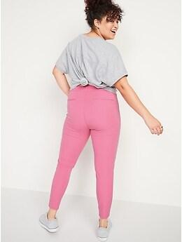 Pantalon Pixie, longueur à la cheville et taille haute pour femme