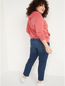 High-Waisted O.G. Straight Ripped Cut-Off Jeans for Women