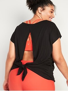 UltraLite Tie-Back Plus-Size Tee