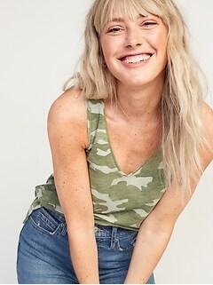 EveryWear Slub-Knit V-Neck Tank Top for Women