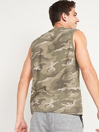 Logo-Graphic Sleeveless Tee for Men