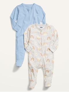 Une-pièce à pieds unisexe pour Bébé (paquet de2)