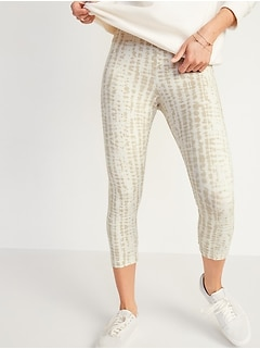 High-Waisted Printed Cropped Leggings