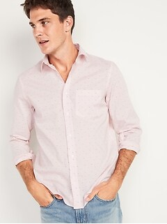 Slim-Fit Built-In Flex Everyday Printed Shirt for Men