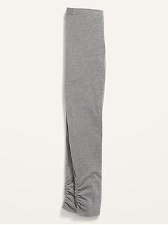 Built-In Tough Ruched-Hem Full-Length Leggings for Girls