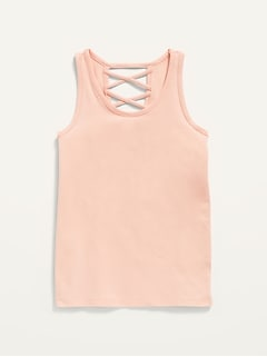 Fitted Strappy Tank Top for Girls