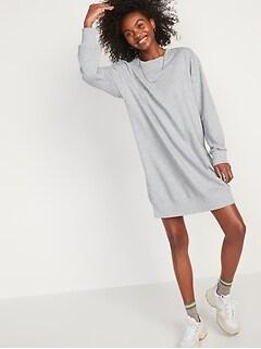 Vintage Sweatshirt Shift Dress for Women