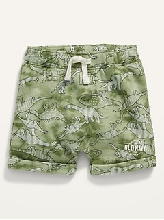 Logo Graphic French Terry Pull-On Shorts for Baby