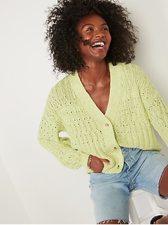 Lightweight Cable-Knit Cardigan Sweater for Women