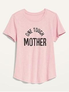 T-shirt passe-partout à imprimé en tricot flammé pour Femme