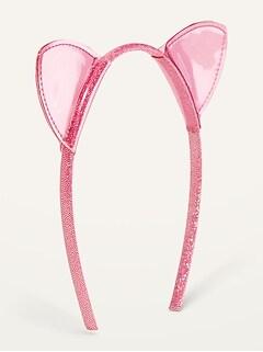 Bandeau scintillant avec oreilles de chat pour femme