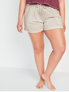 Foldover-Waist Lightweight French Terry Yoga Shorts for Women -- 4-inch inseam