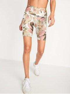 High-Waisted PowerSoft Side-Pocket Biker Shorts for Women -- 8-inch inseam