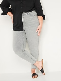 Extra High-Waisted Secret-Slim Pockets Rockstar 360° Stretch Plus-Size Super Skinny Cut-Off Jeans