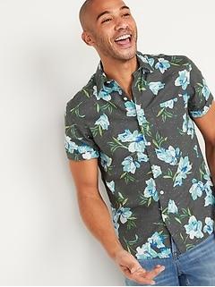 Everyday Printed Short-Sleeve Shirt for Men