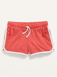 Solid Drawstring Shorts for Girls