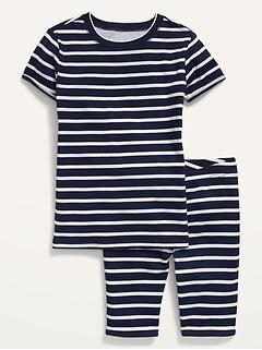 Gender-Neutral Striped Pajama Set for Kids