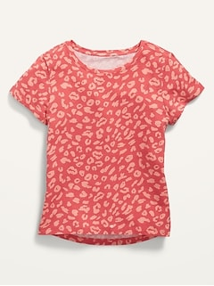 Softest Printed Scoop-Neck Tee for Girls