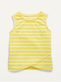 Striped Sleeveless Pajama Top for Girls