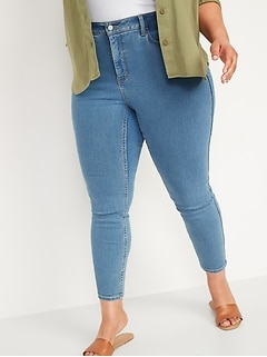Extra High-Waisted Secret-Slim Pockets Rockstar 360° Stretch Plus-Size Super Skinny Jeans