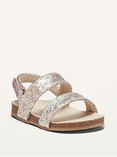 Double-Strap Glitter Sandals for Baby