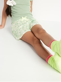 Printed Jersey-Knit Pajama Shorts for Girls