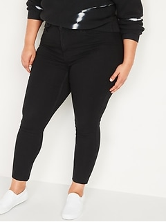 Extra High-Waisted Secret-Slim Pockets Rockstar 360° Stretch Super Skinny Plus-Size Cut-Off Jeans