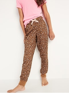 Printed Jersey Pajama Joggers for Girls