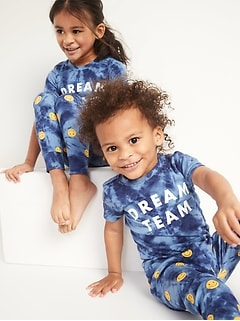 Unisex Matching Graphic Pajama Set for Toddler & Baby