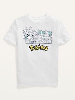 T-shirt unisexe à imprimé Pokémon pour Enfant