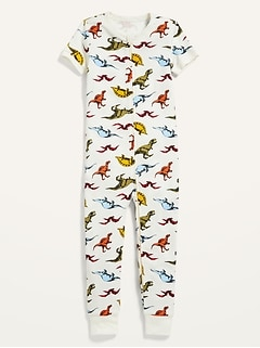 Unisex Printed Snug-Fit Pajama One-Piece for Toddler & Baby