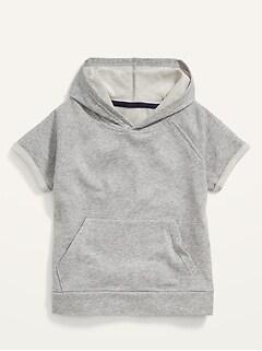 Vintage Short-Sleeve Pullover Hoodie for Boys